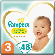 PAMPERS Couches premium protection taille3 6 à 10kg 48 couches