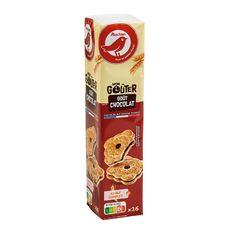 AUCHAN Mon Goûter Carré Biscuits fourrés saveur chocolat 16 biscuits 300g