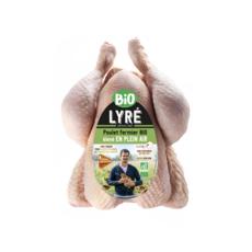 LYRE Poulet entier blanc filière responsable plein air bio 1,350kg