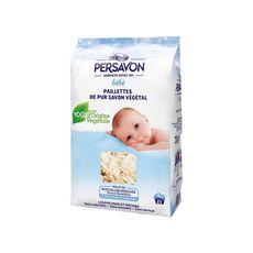 PERSAVON Lessive en paillettes pur savon végétal spécial bébé 20 lavages 750g