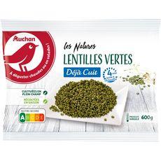 AUCHAN Lentilles vertes déjà cuit 3-4 portions 600g