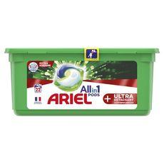 ARIEL Pods Lessive en capsules ultra détachant  22 lavages