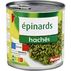 AUCHAN Epinards hachés 395g