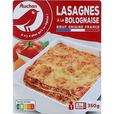 AUCHAN Lasagnes à la bolognaise 1 portion 350g