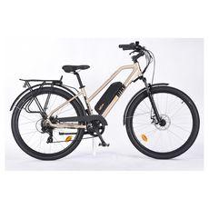 TVT E BIKES Vélo à assistance électrique - SUV E-Bike - Hauteur cadre 40 cm-  Or