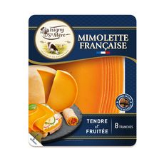 ISIGNY STE MERE Mimolette française 8 tranches 150g