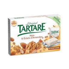 TARTARE Fromage frais à tartiner aux noix et éclats d'amandes 8 portions 128g