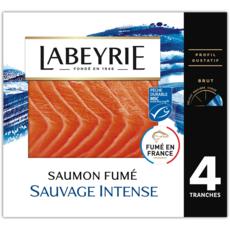 LABEYRIE Saumon fumé sauvage 4 tranches 120g