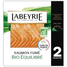 LABEYRIE Saumon fumé bio équilibré 2 tranches 65g