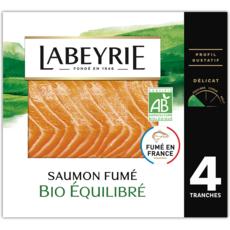 LABEYRIE Saumon fumé bio 4 tranches 120g