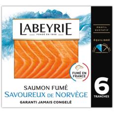 LABEYRIE Saumon fumé Le Norvège 6 tranches 215g