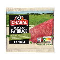 CHARAL Biftecks élevé au pâturage 2 pièces  200g