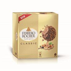FERRERO ROCHER Bâtonnets glacés noisette et chocolat au lait x4 4 pièces 240g
