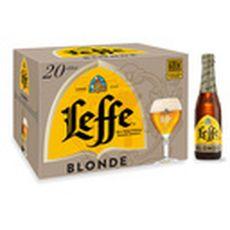 LEFFE Bière blonde 6,6% bouteilles 20x33cl