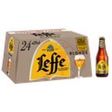 LEFFE Bière blonde 6,6% bouteilles 24x25cl