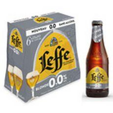 LEFFE Bière blonde sans alcool 0,0% bouteilles 6x25cl