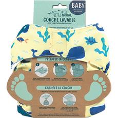 FEEL NATURAL Couche lavable et réutilisable baleine de la naissance à la propreté 1 couche