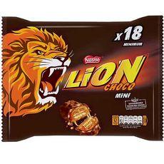LION Mini barres chocolatées au caramel et céréales croustillantes 18 barres 350g