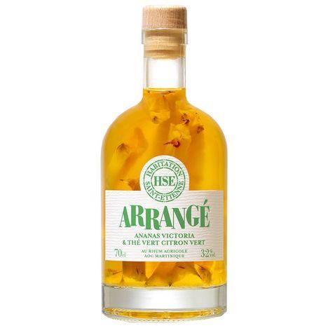HSE Arrangé rhum aromatisé ananas Victoria thé vert citron vert 32%