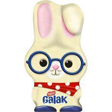 GALAK Figurine de lapin en chocolat blanc 88g