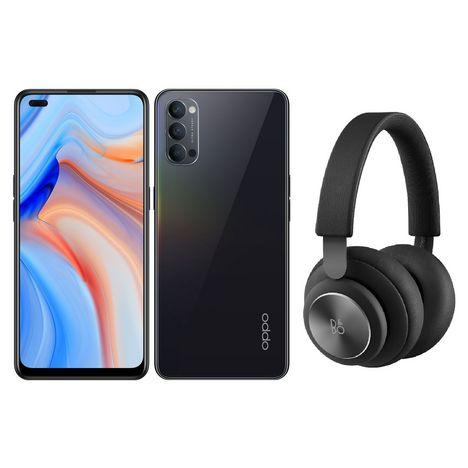 OPPO Smartphone Reno4 128 Go 5G  6.4 pouces Noir + Casque Beoplay H4 Noir