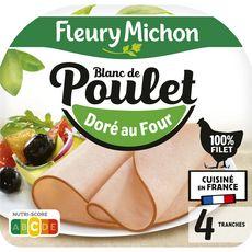 FLEURY MICHON Blanc de poulet doré au four 4 tranches 160g
