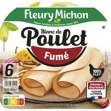 FLEURY MICHON Blanc de poulet fumé 6 tranches 180g
