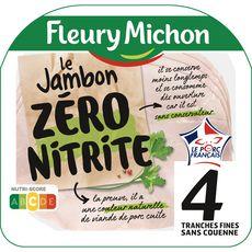 FLEURY MICHON jambon sans nitrite sans couenne 4 tranches 4 tranches 120g