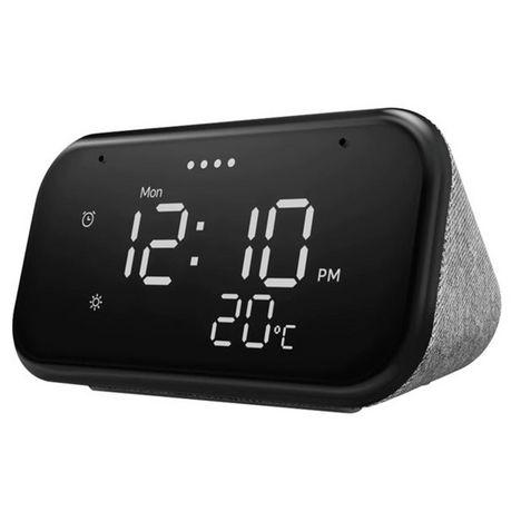 LENOVO Réveil Assistant vocal Smart Clock Essential - Gris