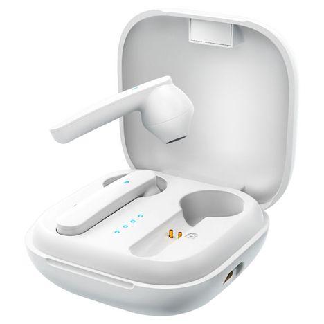WIKO Écouteurs sans fil Bluetooth avec étui de recharge - WiBuds Pocket - Blanc