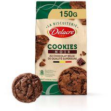 DELACRE Cookies biscuits chocolat noir 150g
