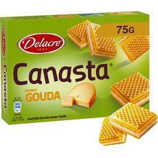 DELACRE Canastra gaufrettes fourrées au gouda 75g
