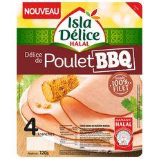 Délice de poulet BBQ halal  4 tranches  120g