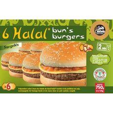 GOUTS & COULEURS Bun's Burger halal 6 pièces  750g