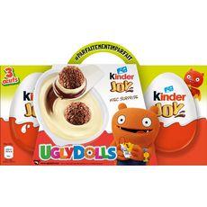 KINDER Joy oeufs surprises enrobés de chocolat au lait 3x20g