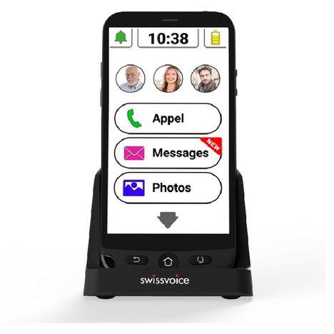 SWISSVOICE Smartphone G50 pour seniors 16 Go  5 pouces Noir