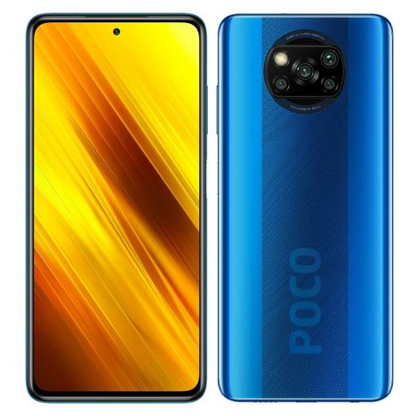 XIAOMI Smartphone Poco X3 NFC  128 Go  6.67 pouces  Bleu  4G Double port SIM