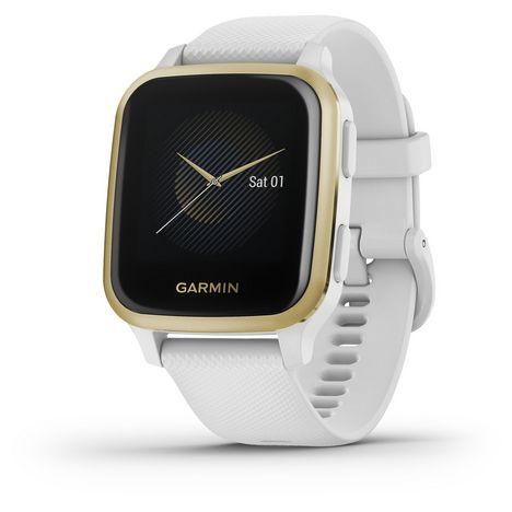 GARMIN Montre connectée Venu SQ - Blanc/Or