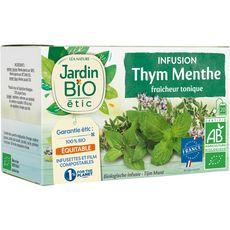 JARDIN BIO ETIC Infusion fraicheur tonique thym menthe 20 sachets 30g