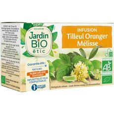 Jardin Bio JARDIN BIO ETIC Infusion tilleul oranger et arôme naturel de citron