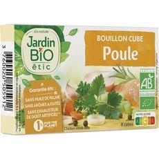 JARDIN BIO ETIC Bouillon cube de poule sans huile de palme 10 cubes