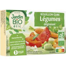 JARDIN BIO ETIC Bouillon cube de légumes dégraissé sans huile de palme 8x10g