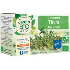 JARDIN BIO ETIC Infusion thym doux et fleuri 20 sachets 28g
