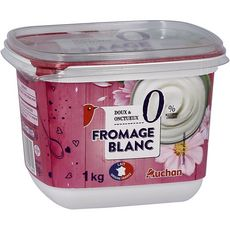 AUCHAN Fromage blanc 0% MG 1kg