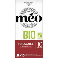 MEO Café bio en capsule compatible Nespresso 10 capsules 53g