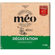 MEO Café moulu dégustation pur Arabica 2x250g
