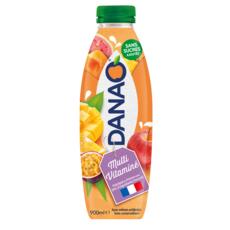 DANAO Boisson au jus multivitaminé et lait 900ml