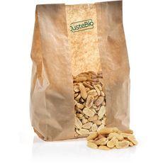 JUSTE BIO Cacahuètes grillées salées bio en vrac Par tranche de 100g