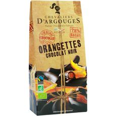 CHEVALIERS D'ARGOUGES Orangettes au chocolat noir bio 160g
