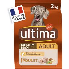 ULTIMA Medium maxi adulte croquettes au poulet pour chien 2kg